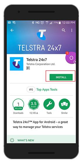 Telstra - How do I install the Telstra 24x7® App on my
