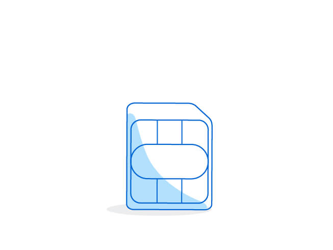 Example of a nano SIM card size