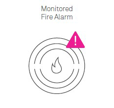 Illustration of Monitored Fire Alarm