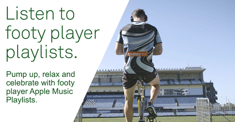 LISTEN TO NRL PLAYER PLAYLISTS